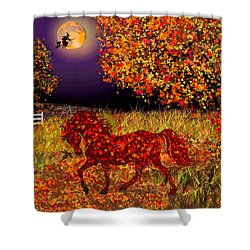 Autumn Horse Bewitched Shower Curtain