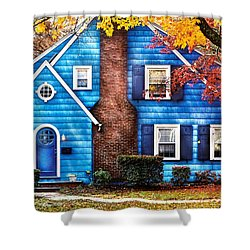 Autumn - House - Little Dream House  Shower Curtain by Mike Savad