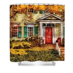 Autumn - House - Local Suburbia Shower Curtain by Mike Savad