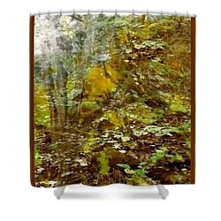 Shower Curtain featuring the mixed media Autumn Impressions by Ray Tapajna