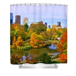 Autumn In Central Park 4 Shower Curtain