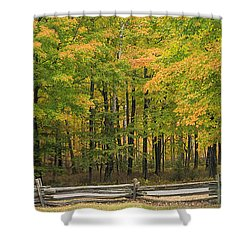 Autumn In Door County Shower Curtain by Adam Romanowicz