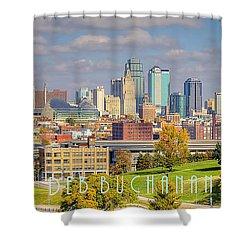 Autumn In Kansas City With Logo Shower Curtain