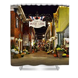 Autumn In Penny Lane - Rehoboth Beach Delaware Shower Curtain