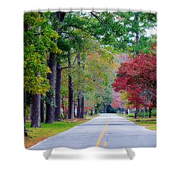 Autumn In The Air Shower Curtain by Cynthia Guinn