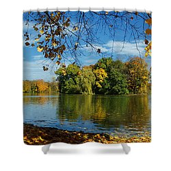 Autumn In The Park 2 Shower Curtain by Rudi Prott