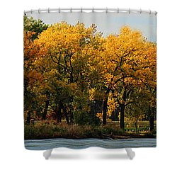 Shower Curtain featuring the photograph Autumn Jewels by Sylvia Thornton