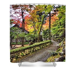 Autumn Walk Shower Curtain