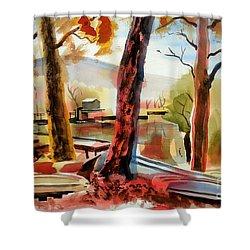 Autumn Jon Boats I Shower Curtain by Kip DeVore