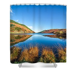Autumn Lake Shower Curtain by Adrian Evans