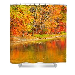 Shower Curtain featuring the photograph Fire Balls by Terri Gostola