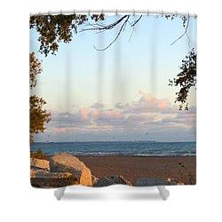 Autumn Lakeside Shower Curtain by Kay Novy