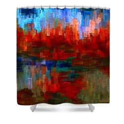 Autumn Leaves Shower Curtain by Jack Zulli