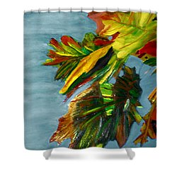 Autumn Leaves Shower Curtain by Michael Daniels