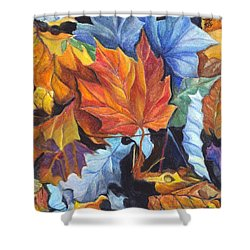 Autumn Leaves Of Red And Gold Shower Curtain by Carol Wisniewski