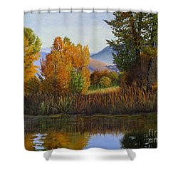 Autumn Light Shower Curtain by Beverly Theriault
