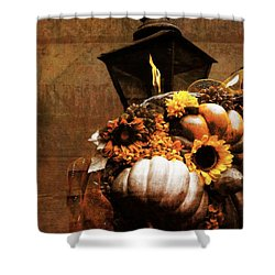 Autumn Light Post Shower Curtain by Dan Sproul