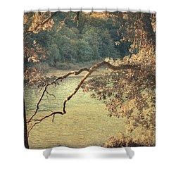Autumn Manifesto Shower Curtain by Taylan Apukovska