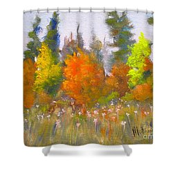 Autumn Shower Curtain by Mohamed Hirji