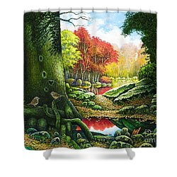 Autumn Morning In The Forest Shower Curtain