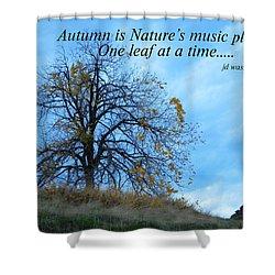 Autumn Music Shower Curtain