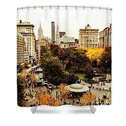Autumn - New York Shower Curtain by Vivienne Gucwa