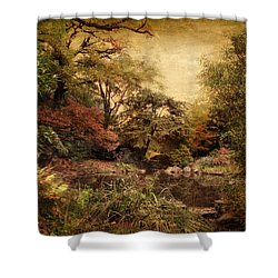 Shower Curtain featuring the photograph Autumn On Canvas by Jessica Jenney