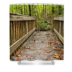 Autumn On The Bridge Shower Curtain