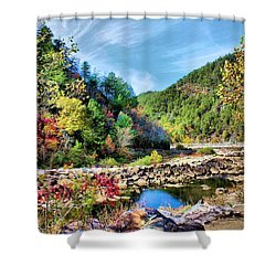 Autumn On The Ocoee Shower Curtain