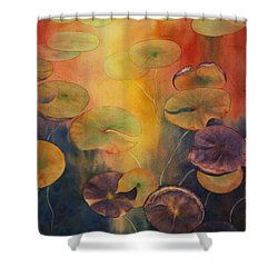 Autumn On Winslow Lake Shower Curtain
