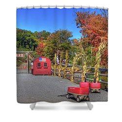Autumn Orchard Shower Curtain by Joann Vitali