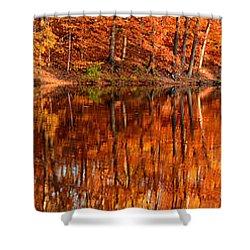 Autumn Paradise Shower Curtain by Lourry Legarde
