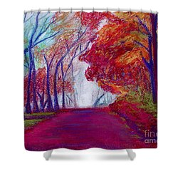 Autumn Path Shower Curtain by D Renee Wilson