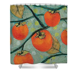 Autumn Persimmons Shower Curtain by Jen Norton