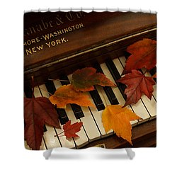 Autumn Piano 14 Shower Curtain by Mick Anderson