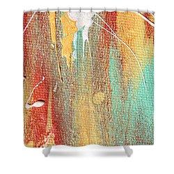 Autumn Rain Abstract Painting Shower Curtain