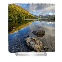 Autumn Reflection Shower Curtain by Adrian Evans