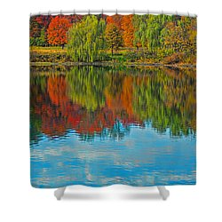 Autumn Reflection Shower Curtain by Todd Breitling