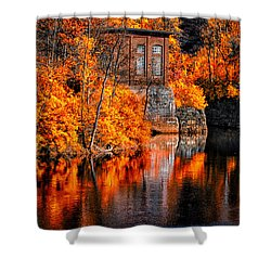 Autumn Reflections  Shower Curtain by Bob Orsillo