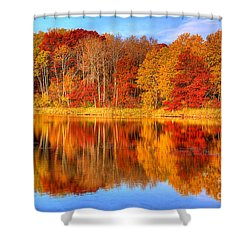 Autumn Reflections Minnesota Autumn Shower Curtain