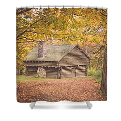 Autumn Retreat Shower Curtain by Sara Frank