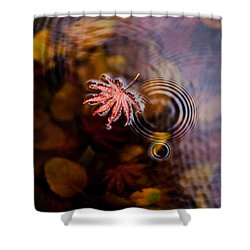 Autumn Ripples Shower Curtain by Mike Reid