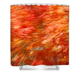 Shower Curtain featuring the photograph Autumn River Of Flame by Jeff Folger