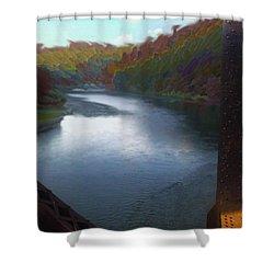 Autumn River Valley  Shower Curtain