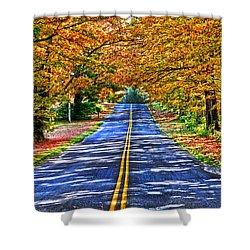 Autumn Road Oneida County Ny Shower Curtain