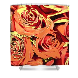 Shower Curtain featuring the photograph Autumn Roses On Your Wall by Joseph Baril