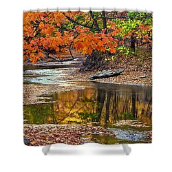 Autumn Serenity Shower Curtain by Frozen in Time Fine Art Photography