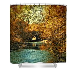Autumn Shimmer Shower Curtain by Jessica Jenney