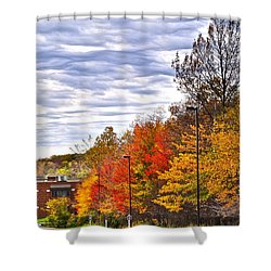 Autumn Sky Shower Curtain by Frozen in Time Fine Art Photography