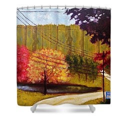 Autumn Slopes Shower Curtain by Jason Williamson